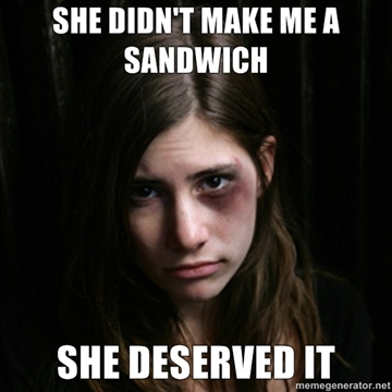 She didnt make me a sandwich She deserved it how about i make you a knuckle sandwich? spark movement
