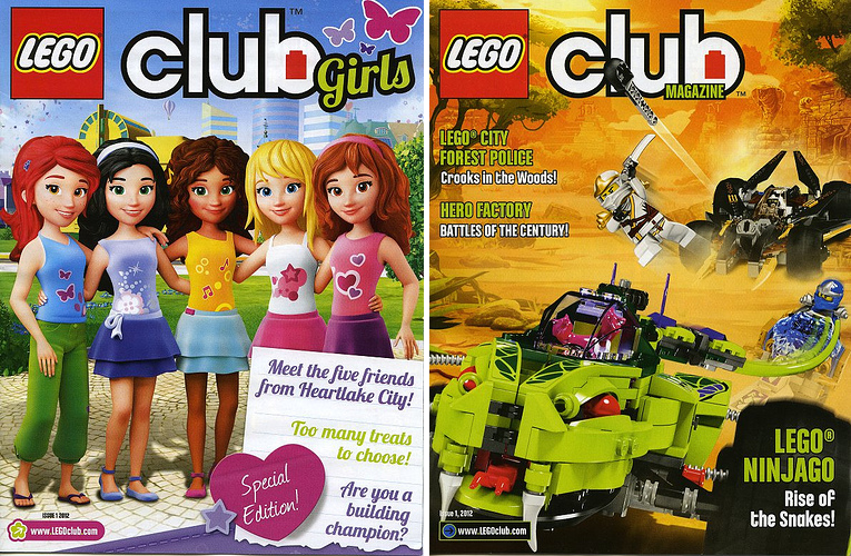 "Toys For Boys Magazine : Lego magazine girl stuff and ""regular spark movement"