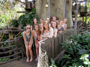 Bailey chaperoned her sister's dance team to Orlando, Florida.