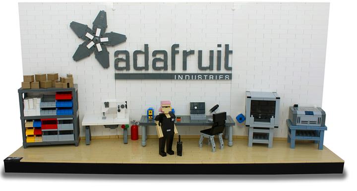 "Limor's ""hackerspace"" LEGO set"