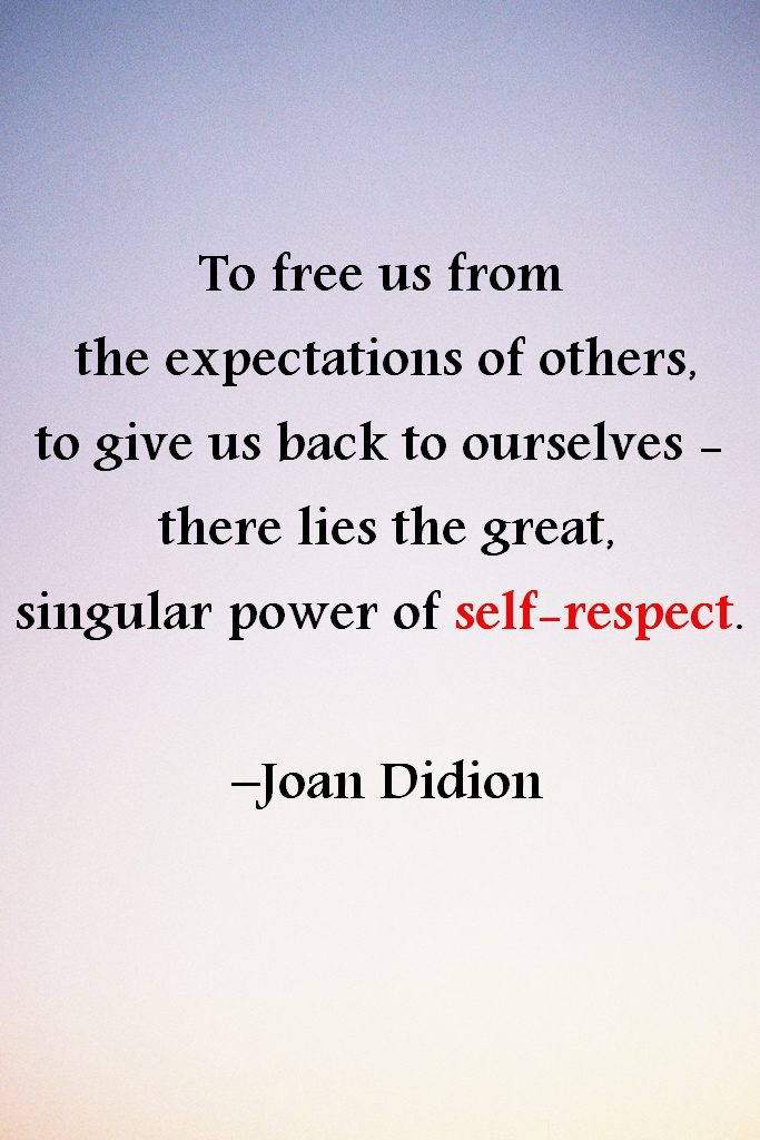 define self respect essay Self-esteem is simply telling yourself that you are worthy of love and respect the definition essay begins by having the reader think about self-esteem it is not something that can be seen or heard.