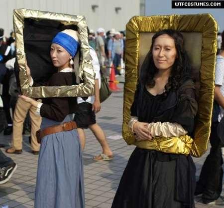 Mona lisa picture frame costume
