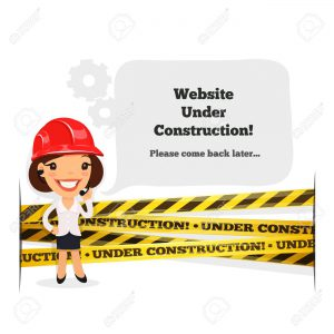 Website Under Construction Message. In the EPS file, each element is grouped separately. Clipping paths included in additional jpg format isolated on white background.